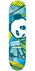Enjoi 1985 Called R7 Skateboard Deck - Blue/Yellow - 8.0in