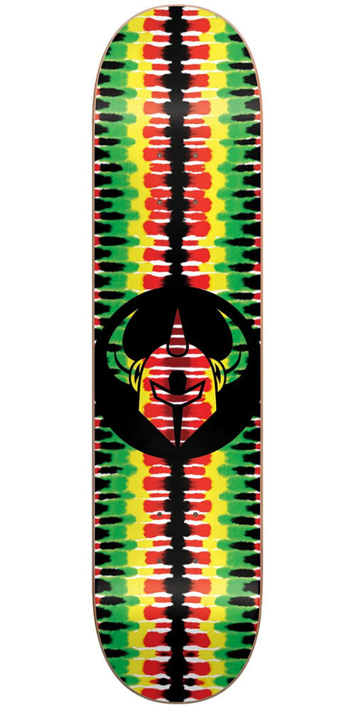 DarkStar Badge RHM Skateboard Deck - Rasta - 8.0in