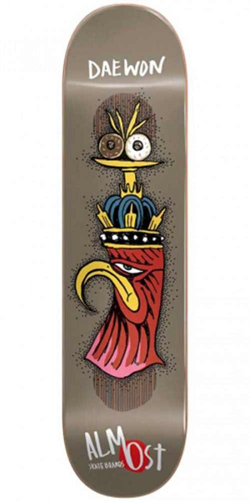 Almost Daewon Song Bird Shits Impact Plus Skateboard Deck - Brown - 8.0in