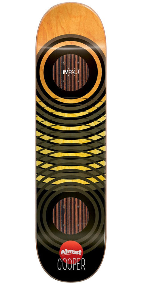 Almost Cooper Wilt OG Trans Rings Impact Skateboard Deck - Orange/Black - 8.25in