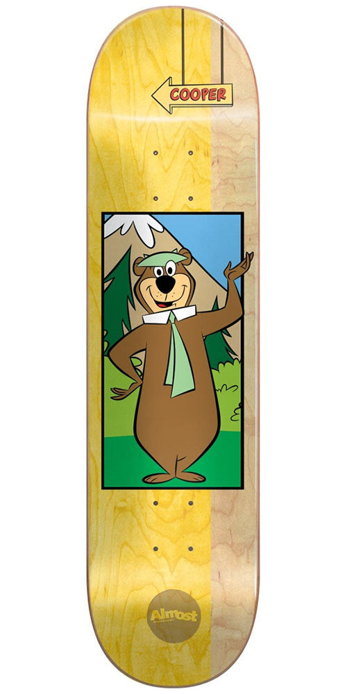 Almost Cooper Wilt Yogi Bear R7 Skateboard Deck - Yellow - 8.125in