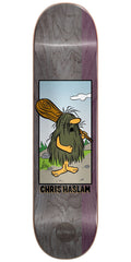 Almost Chris Haslam Captain Caveman R7 Skateboard Deck - Grey - 8.375in