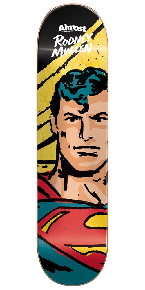 Almost Rodney Mullen Sketchy Superman R7 Skateboard Deck - Multi - 8.25in