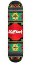 Almost Aztek HYB Skateboard Deck - Rasta - 7.75in
