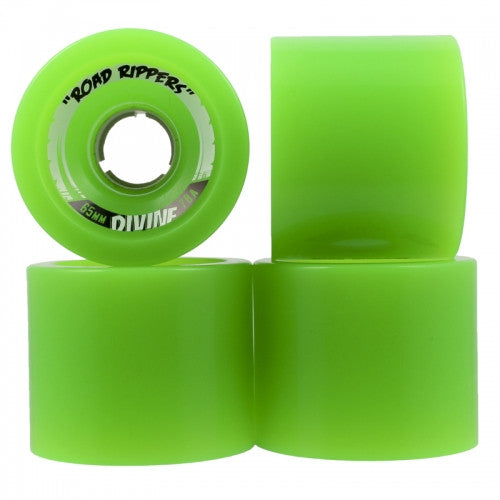 Divine Road Rippers Skateboard Wheels 65mm - Green (Set of 4)