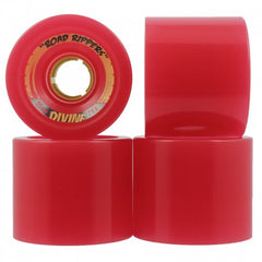 Divine Road Rippers Skateboard Wheels 65mm - Red (Set of 4)