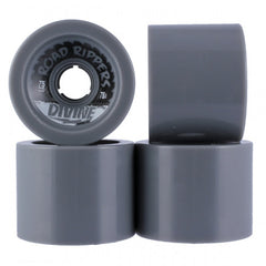 Divine Road Rippers Skateboard Wheels 75mm - Grey (Set of 4)