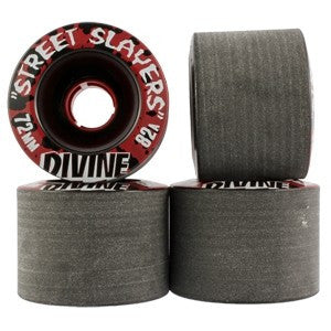 Divine Street Slayers Skateboard Wheels 72mm - Black (Set of 4)