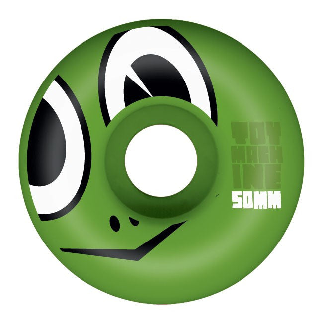 Toy Machine Turtle Head Skateboard Wheels 50mm - Green (Set of 4)