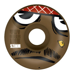 Toy Machine Poo Poo Head Skateboard Wheels 53mm - Brown (Set of 4)