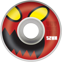 Toy Machine Monster Head Skateboard Wheels - White - 52mm 100a (Set of 4)