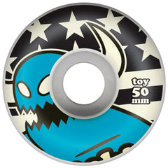Toy Machine Monster Stars & Stripes Skateboard Wheels - Blue - 50mm 100a (Set of 4)