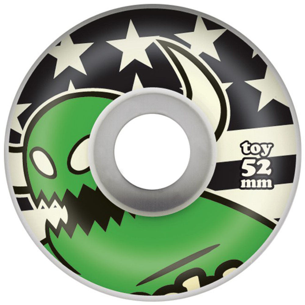 Toy Machine Monster Stars & Stripes Skateboard Wheels - Green - 52mm 100a (Set of 4)