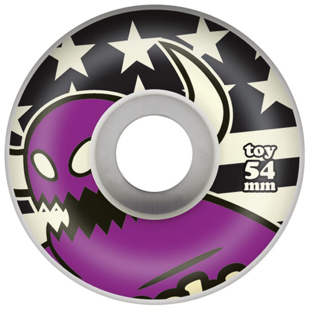 Toy Machine Monster Stars & Stripes Skateboard Wheels - Purple - 54mm 100a (Set of 4)