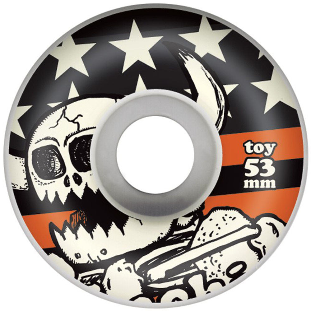 Toy Machine Vice Dead Monster Skateboard Wheels - White - 53mm (Set of 4)