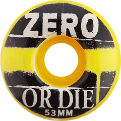 Zero Vandal Skateboard Wheels 53mm - Yellow (Set of 4)