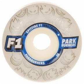 Spitfire F1 Park Burner Skateboard Wheels 52mm - White (Set of 4)