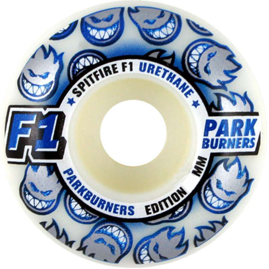Spitfire F1 Park Burner Skateboard Wheels 58mm - White (Set of 4)