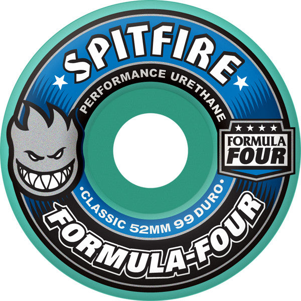 Spitfire Formula Four Skateboard Wheels 53mm 99a - Mint (Set of 4)