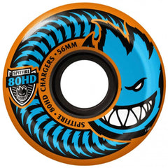 Spitfire 80HD Charger Conical Skateboard Wheels - Orange - 56mm 80a (Set of 4)