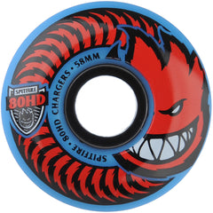 Spitfire 80HD Charger Classic Skateboard Wheels - Blue - 58mm 80a (Set of 4)