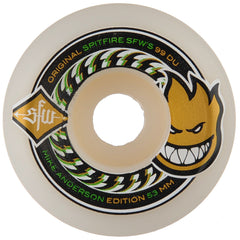 Spitfire Anderson SFW 2 Skateboard Wheels - White - 53mm 99a (Set of 4)