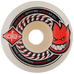 Spitfire Anderson SWF 2 Skateboard Wheels - White - 55mm 99a (Set of 4)