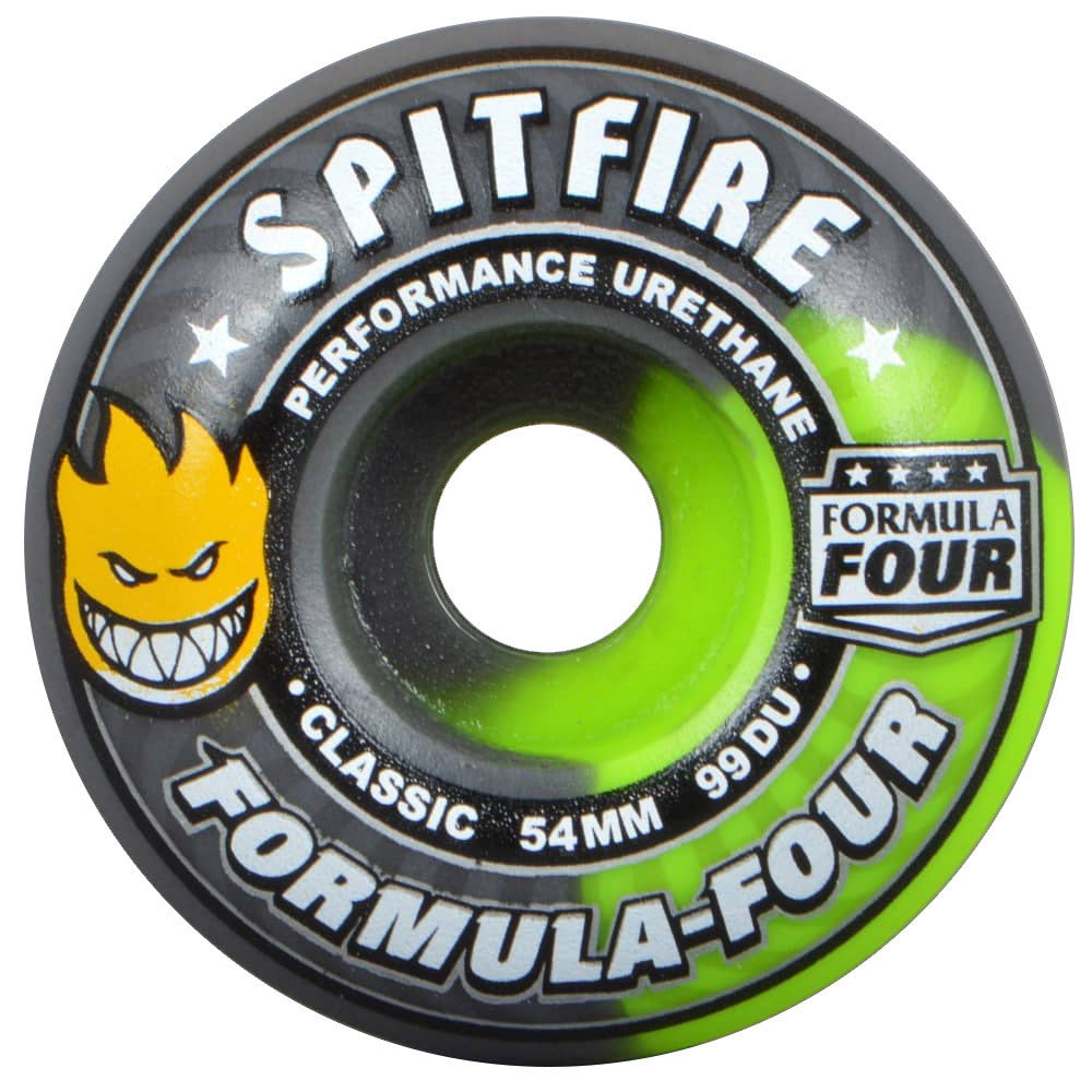 Spitfire Formula Four Classic Skateboard Wheels - Fallout Swirl - 54mm 99a (Set of 4)