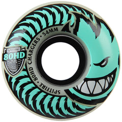 Spitfire 80HD Charger Stay Lit Glow Classic Skateboard Wheels - Green - 54mm 80a (Set of 4)