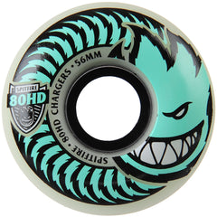 Spitfire 80HD Charger Stay Lit Glow Classic Skateboard Wheels - Green - 56mm 80a (Set of 4)