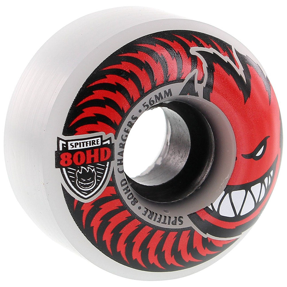 Spitfire 80HD Charger Classic Skateboard Wheels - Clear/Red - 56mm 80a (Set of 4)
