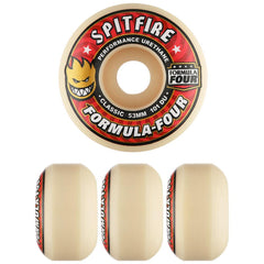 Spitfire Formula Four Conical Full Skateboard Wheels - Natural- 53mm 101a (Set of 4)