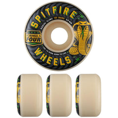Spitfire Formula Four Radial Slim Speed Kills Skateboard Wheels - Natural - 54mm 101a (Set of 4)