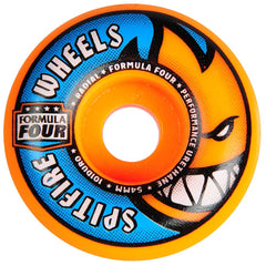 Spitfire Formula Four Orange Blast Skateboard Wheels - Orange- 54mm 101a (Set of 4)