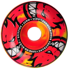 Spitfire Formula Four Afterburners Classic Skateboard Wheels - Yellow/Red- 55mm 99a (Set of 4)