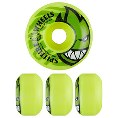 Spitfire Bighead Electrofire Skateboard Wheels - Yellow - 53mm 99a (Set of 4)