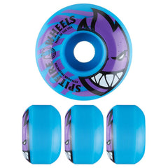 Spitfire Bighead Electrofire Skateboard Wheels - Blue - 54mm 99a (Set of 4)