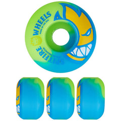 Spitfire Bighead Swirl Skateboard Wheels - Blue/Green - 51mm 99a (Set of 4)