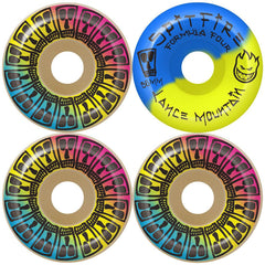 Spitfire Formula Four Mountain Lifer Skateboard Wheels - Multi - 56mm 99a (Set of 4)