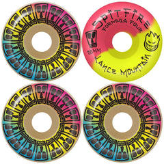 Spitfire Formula Four Mountain Lifer Skateboard Wheels - Multi - 58mm 99a (Set of 4)