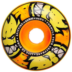 Spitfire Formula Four Afterburner Skateboard Wheels - Orange/Yellow - 52mm 99a (Set of 4)