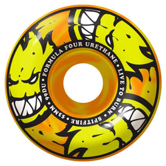 Spitfire Formula Four Afterburner Skateboard Wheels - Orange/Yellow - 53mm 99a (Set of 4)