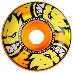 Spitfire Formula Four Afterburner Skateboard Wheels - Orange/Yellow - 55mm 99a (Set of 4)