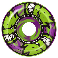 Spitfire Formula Four Afterburner Skateboard Wheels - Green/Purple - 53mm 99a (Set of 4)