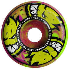 Spitfire Formula Four Afterburner Skateboard Wheels - Green/Purple - 54mm 99a (Set of 4)