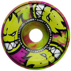 Spitfire Formula Four Afterburner Skateboard Wheels - Green/Purple - 56mm 99a (Set of 4)