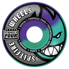 Spitfire Formula Four Radial Swirl Skateboard Wheels - Purple/Mint - 52mm 101a (Set of 4)