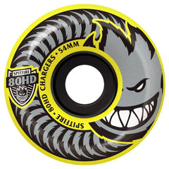 Spitfire 80HD Chargers Conical Skateboard Wheels - Yellow - 54mm 80a (Set of 4)