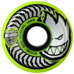 Spitfire 80HD Chargers Conical Skateboard Wheels - Yellow - 58mm 80a (Set of 4)