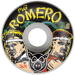Pig Leo Romero Gamer II Skateboard Wheels 50mm 101a - White (Set of 4)